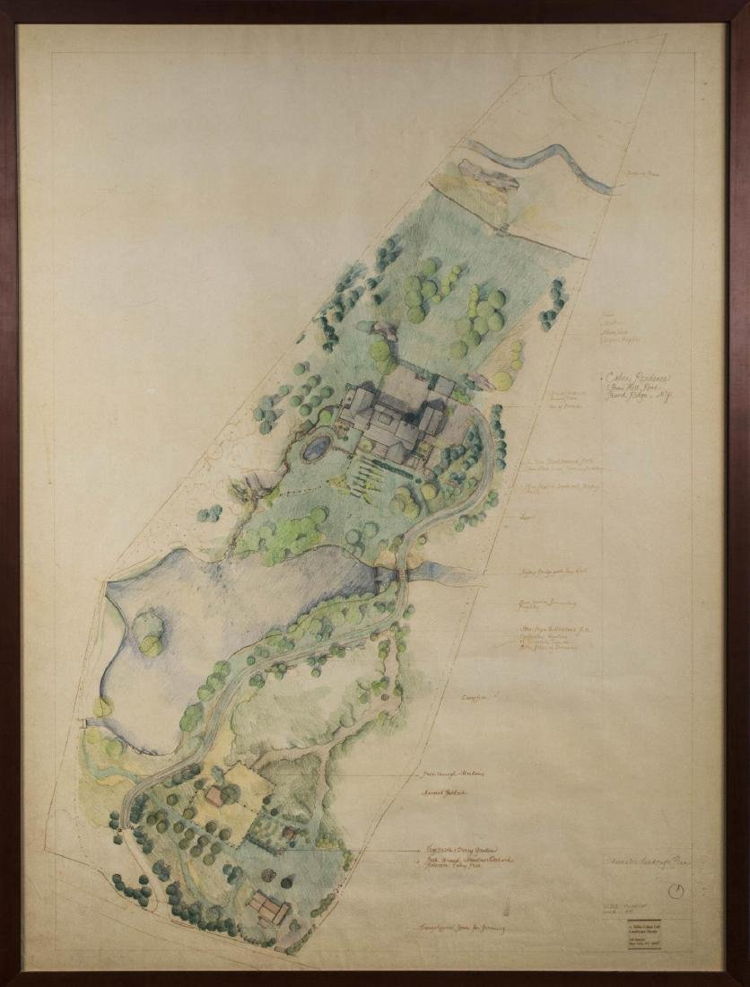 Landscape Drawing of the Cohen Estate, Pound Ridge