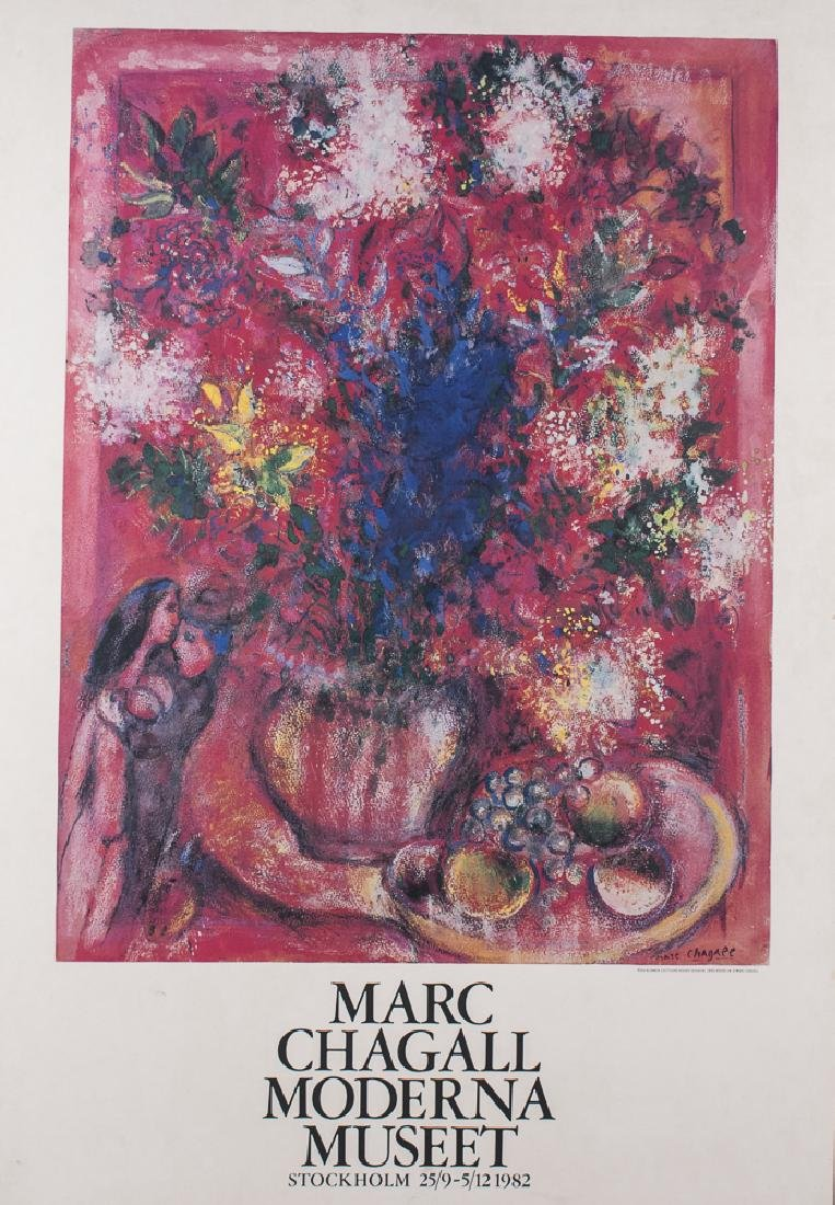 Marc Chagall 1982 Exhibition Poster