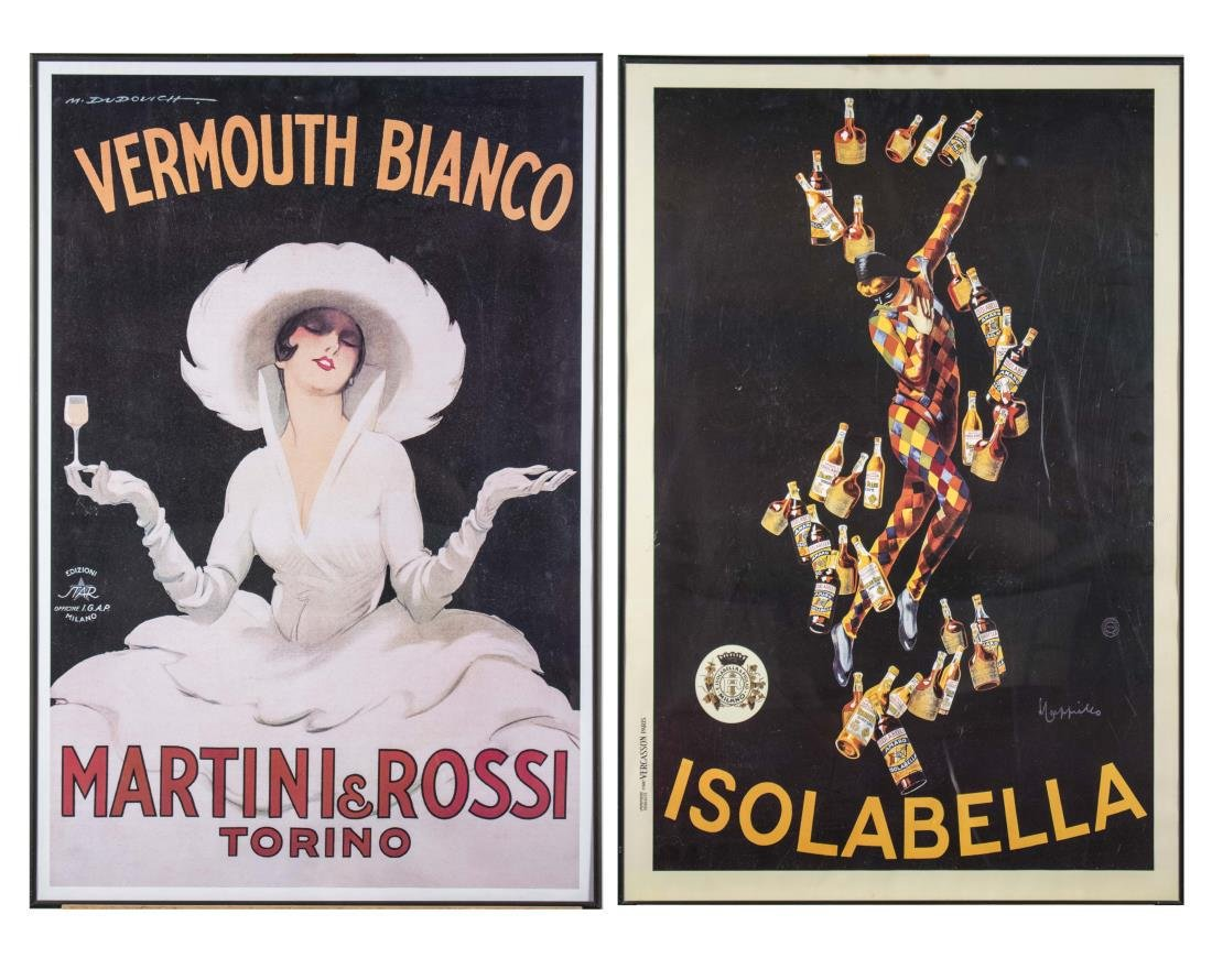 Pair of Reproduction Italian Alcohol Posters