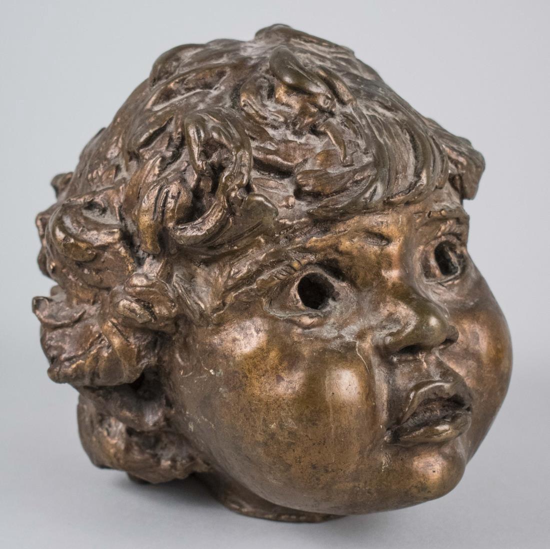 Bronze Head Sculpture