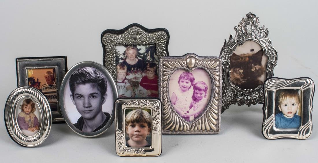 Group of Silver Plated Picture Frames