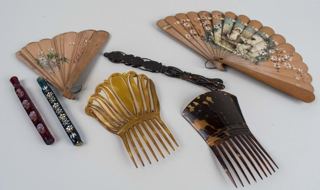 Hair Combs, Fans and a Lorgnette