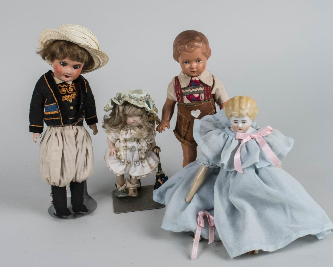 Four Vintage Dolls