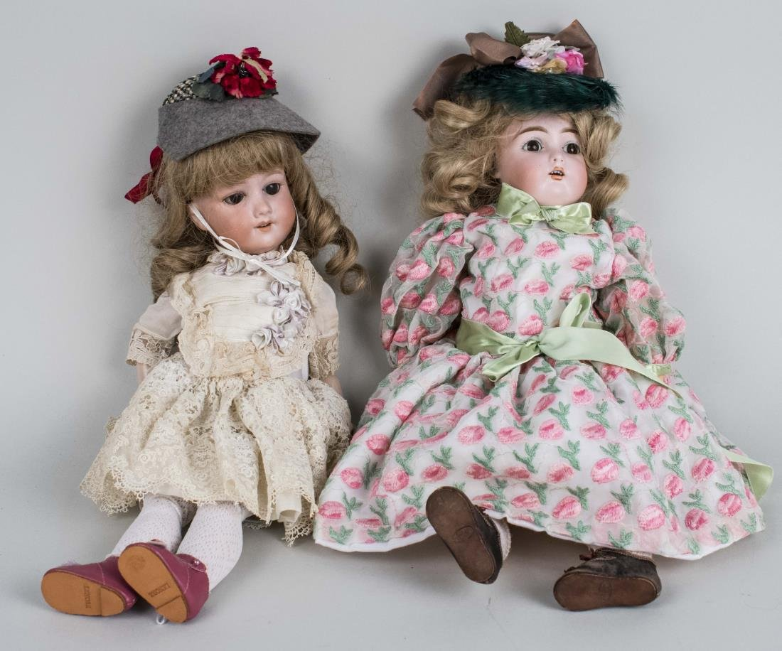 Two Porcelain Head Doll