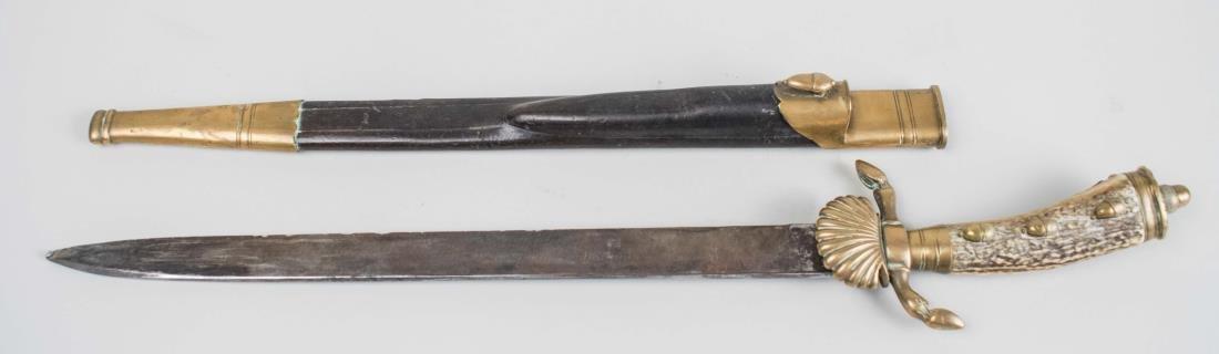 German Hirschfanger Hunting Dagger - 2
