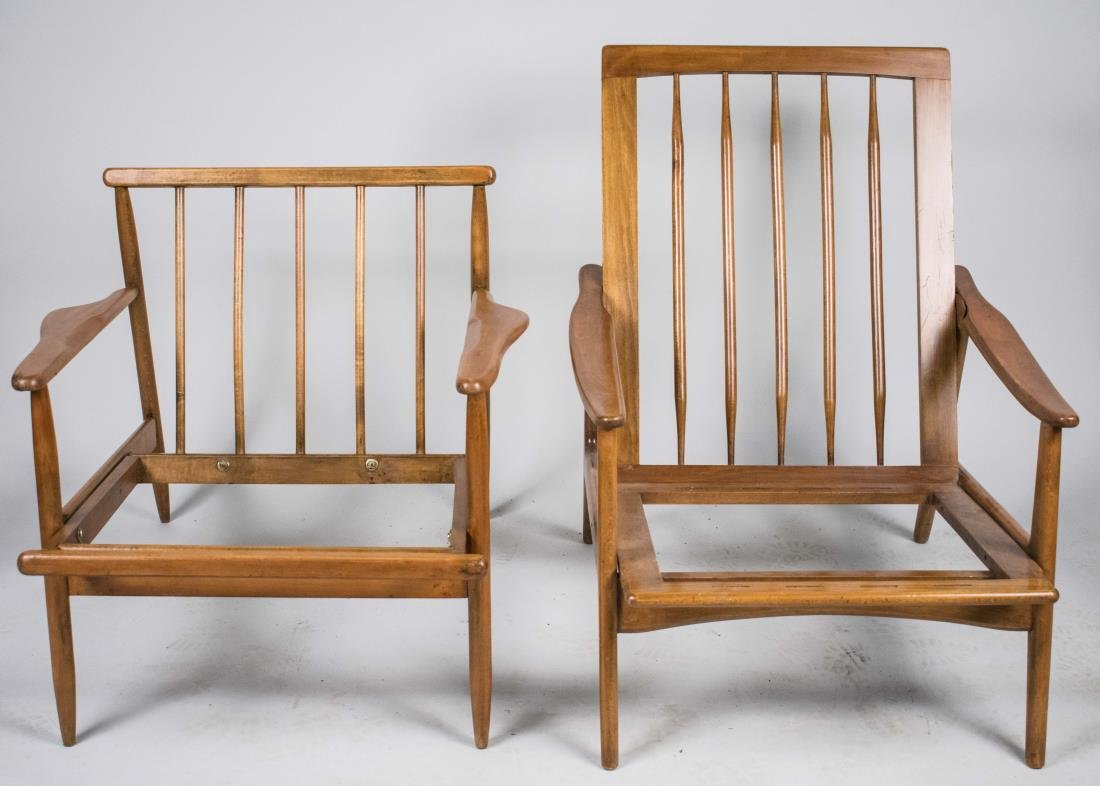 Two Mid Century Armchairs