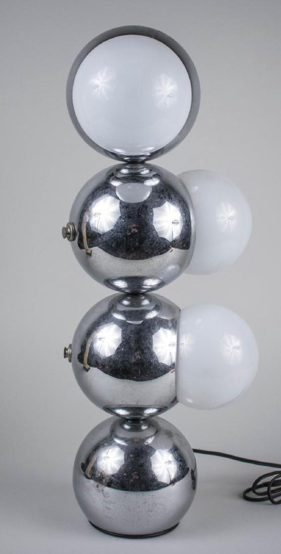 Modern Chrome and Glass Lamp