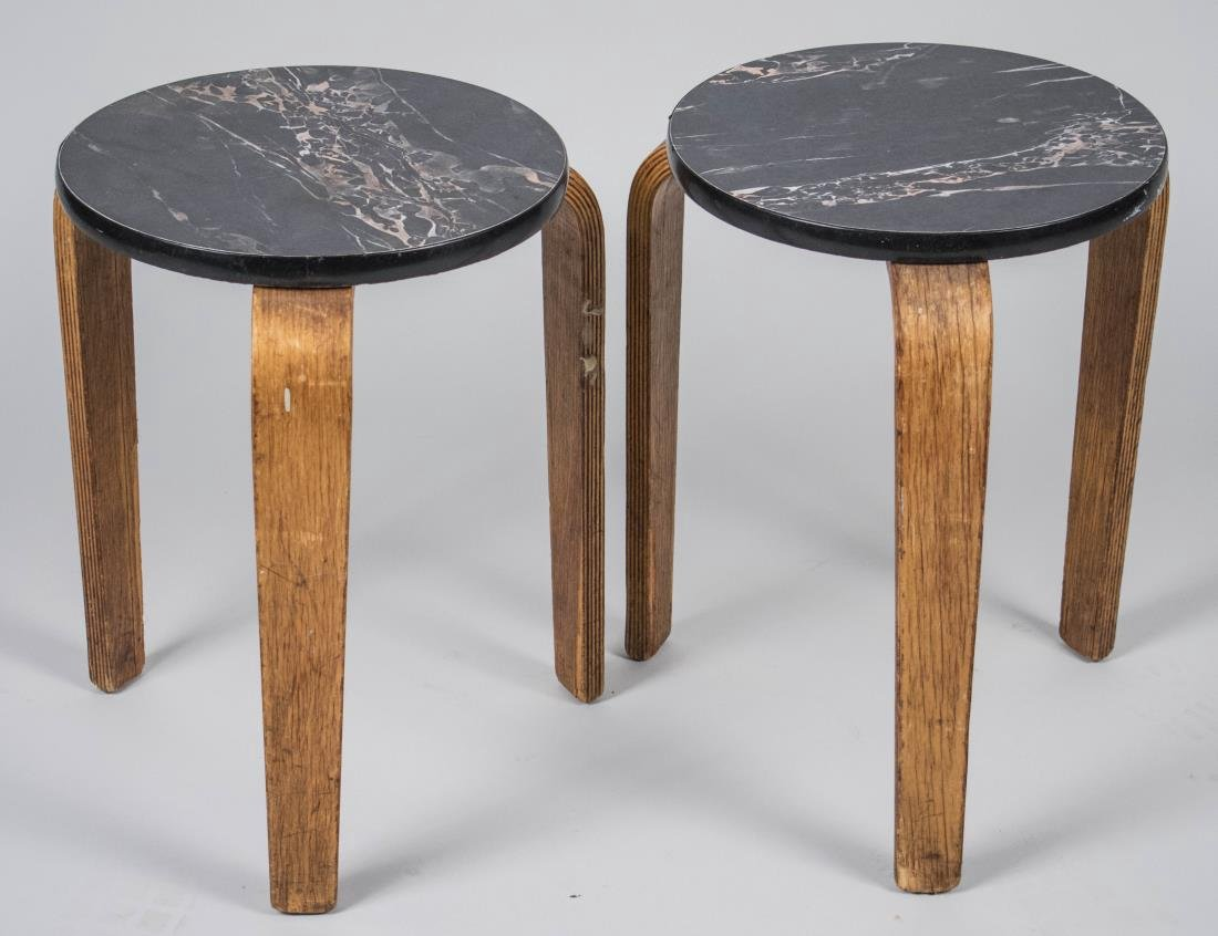 Pair of Alvar Aalto Stacking Tables