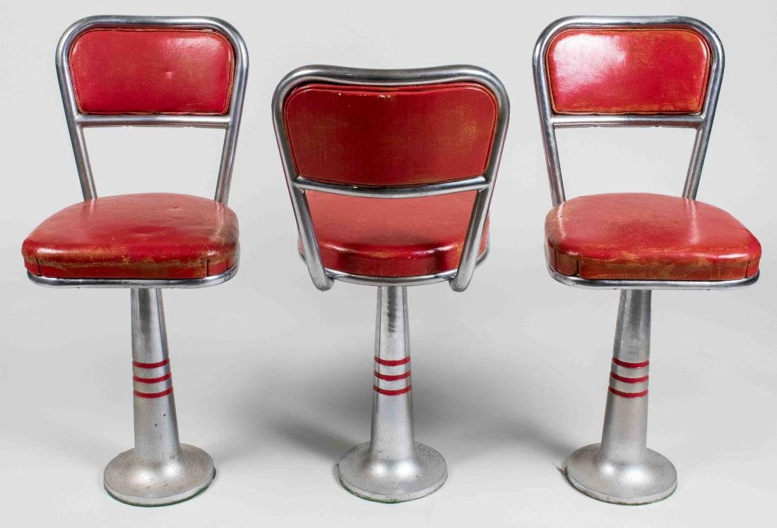 Three Vintage Bar Stools - 2