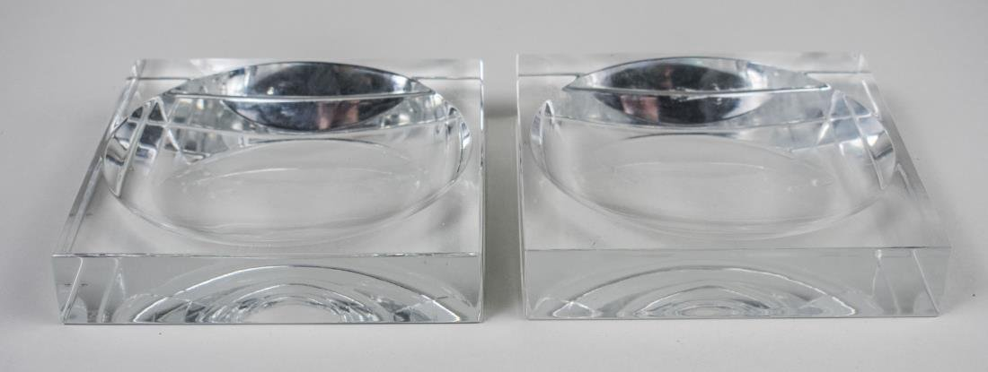 Pair of Baccarat Crystal Ashtrays