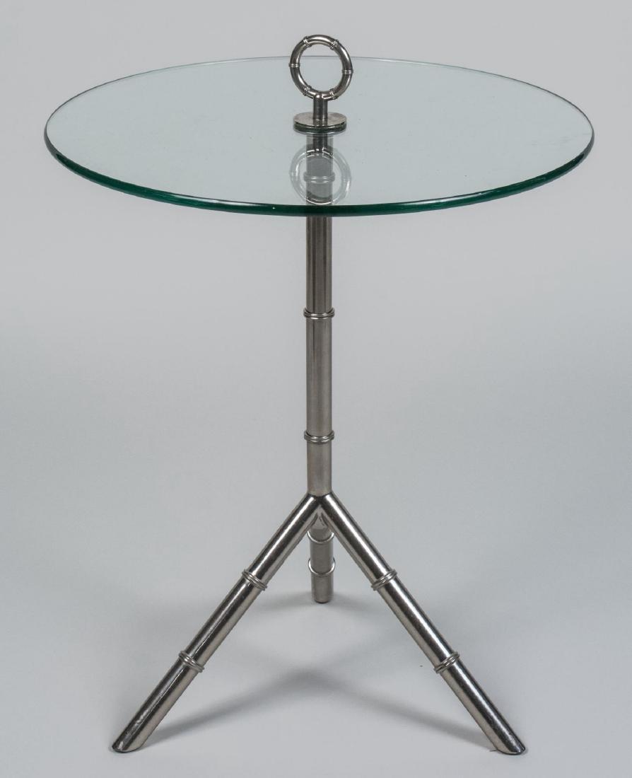 Glass Top Circular Side Table