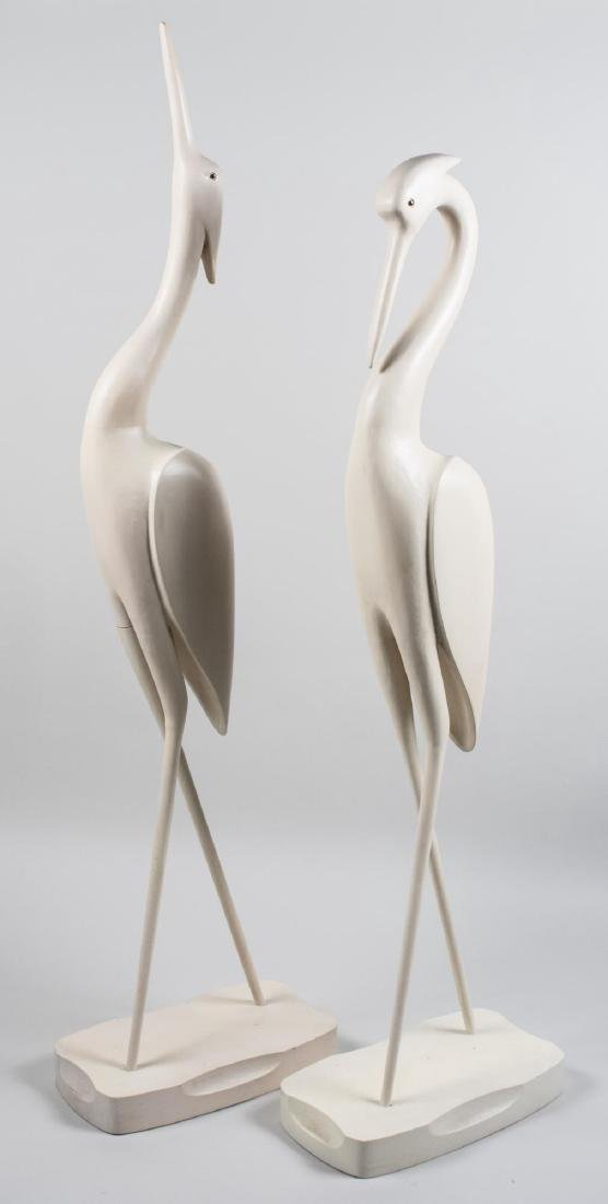 Pair of Modern Crane Sculptures