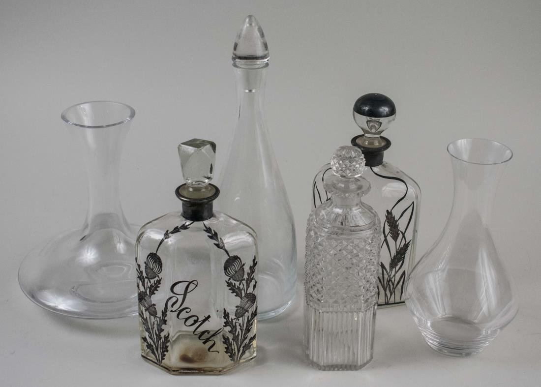 Group of Glass Decanters and Carafes