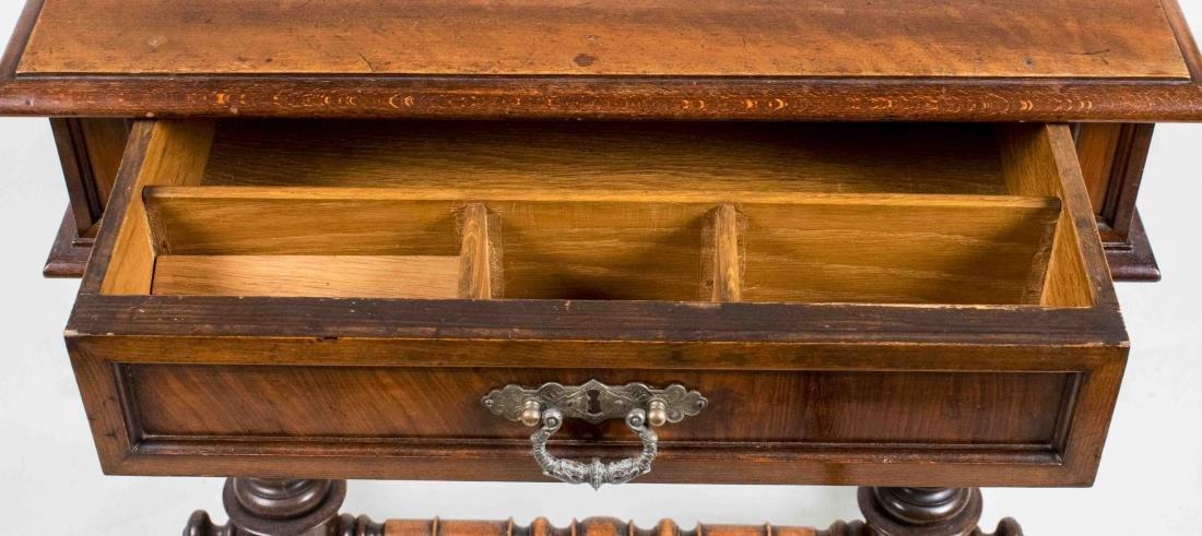 Fruitwood Trestle Base Side Table - 3