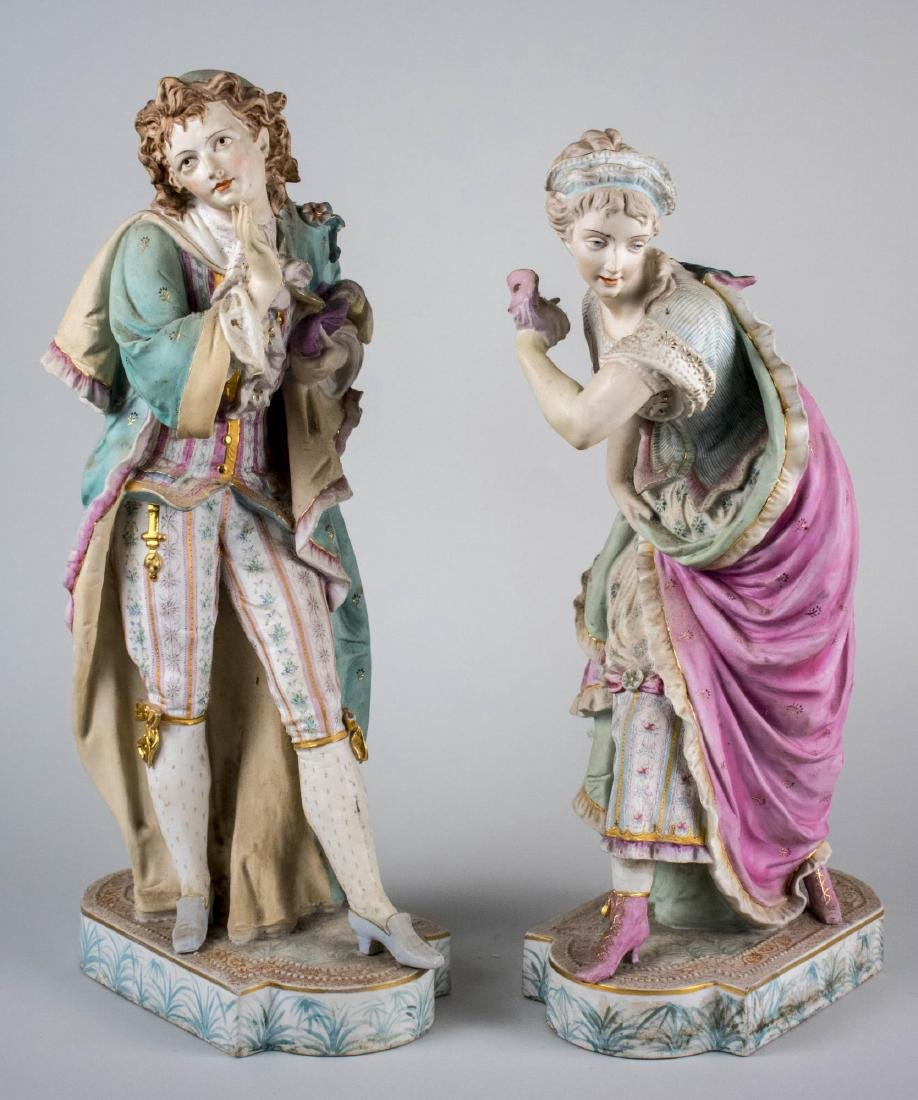 Pair of Chantilly Porcelain Figures   *