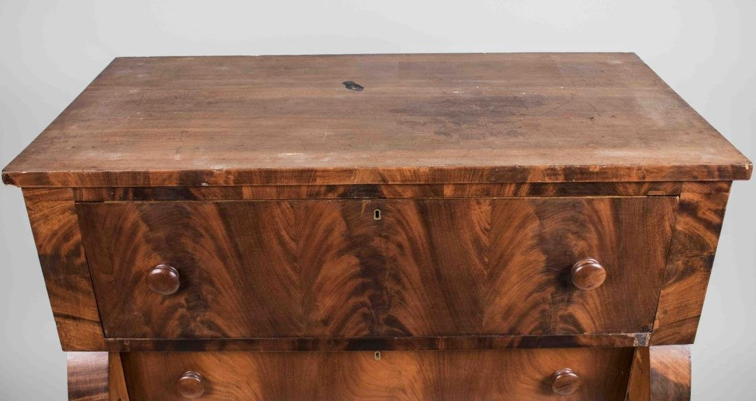 American Empire Mahogany Chest - 2