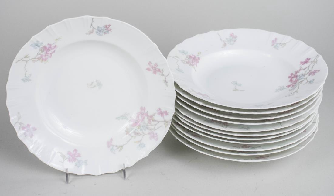 Twelve Limoges Haviland Porcelain Soup Bowls