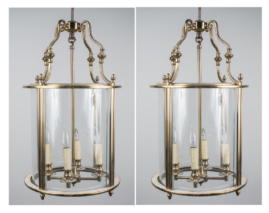 Pair of Bronze Lantern Fixtures