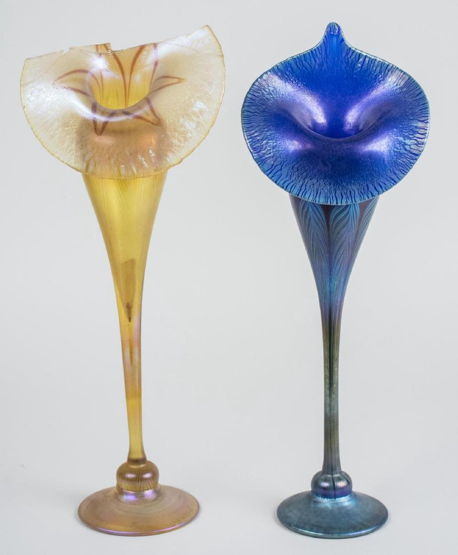 Two Tiffany Glass Vases