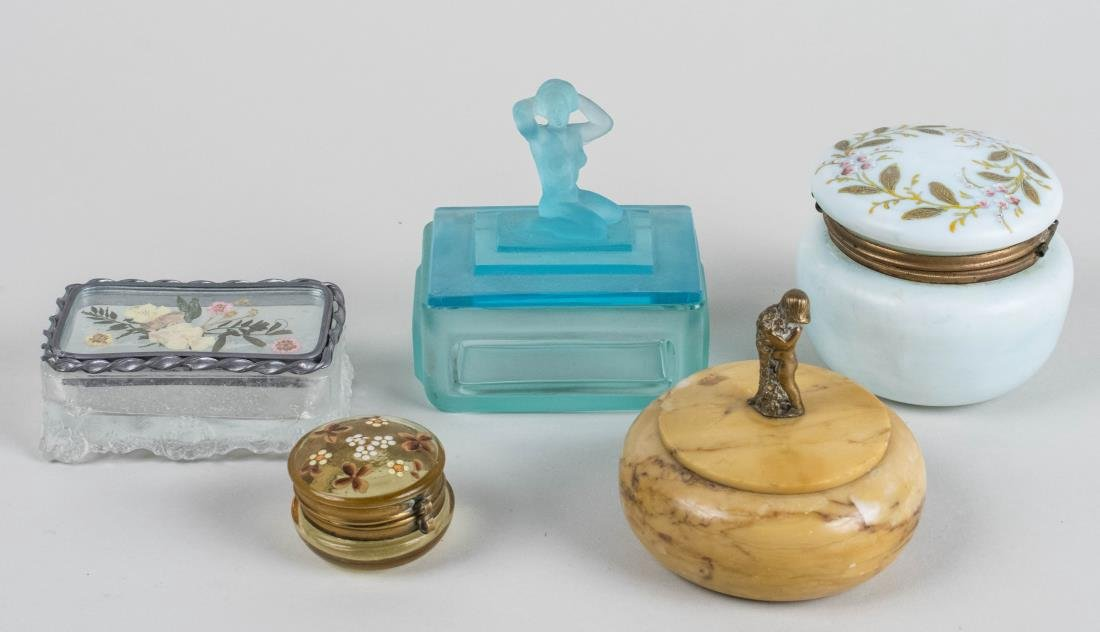 Miscellaneous Group of Trinket Boxes