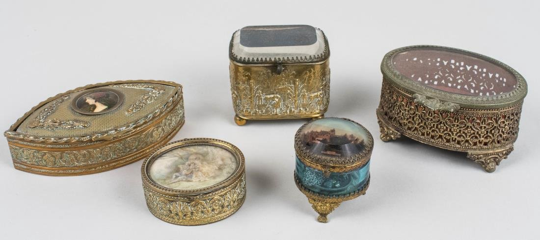 Group of French Trinket Boxes
