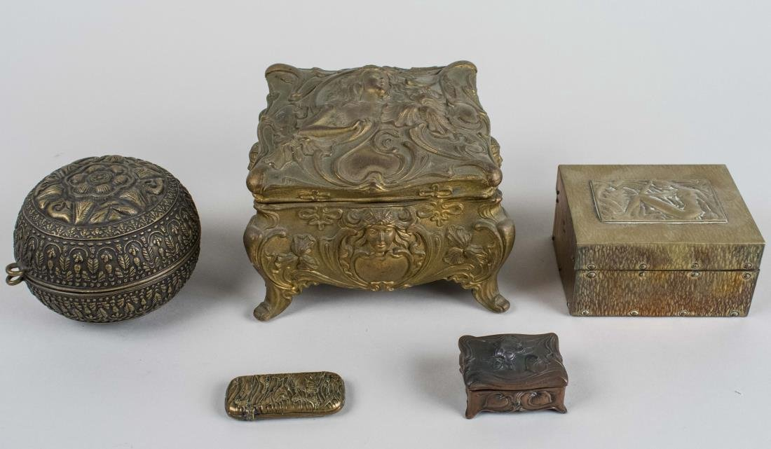 Group of Metal Boxes