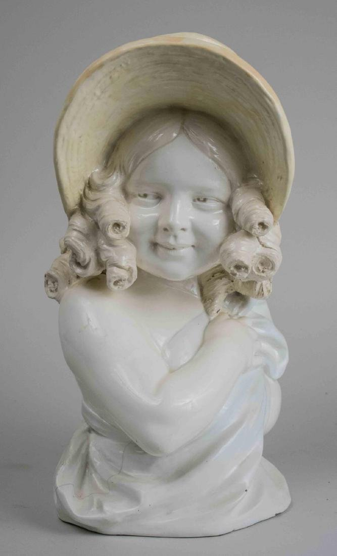 Porcelain Bust of a Young Girl