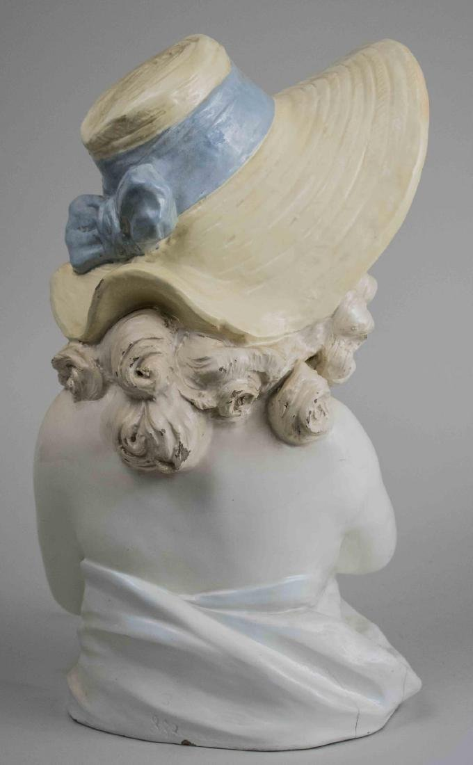 Porcelain Bust of a Young Girl - 2