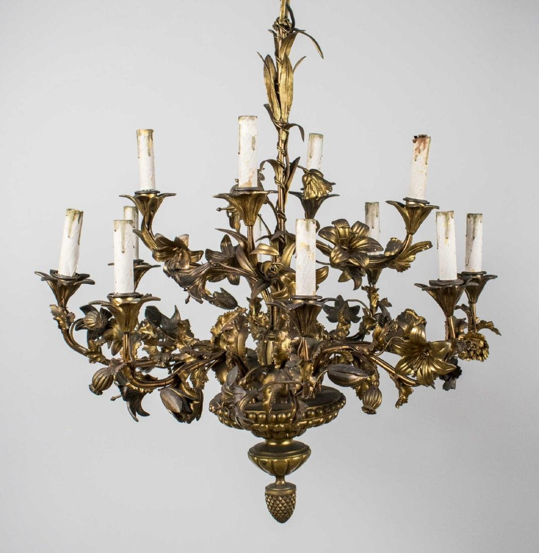 Bronze Floriform Chandelier   *