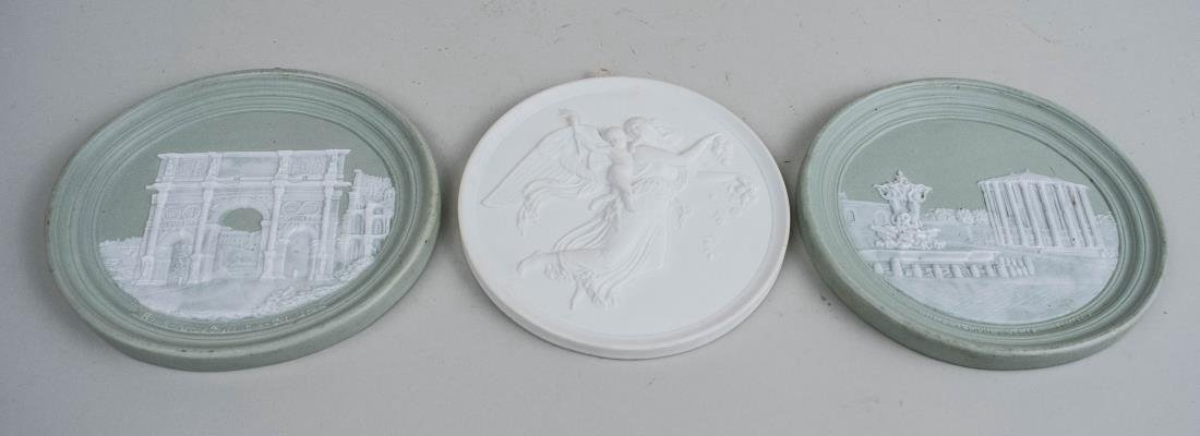 Three Porcelain Plaques
