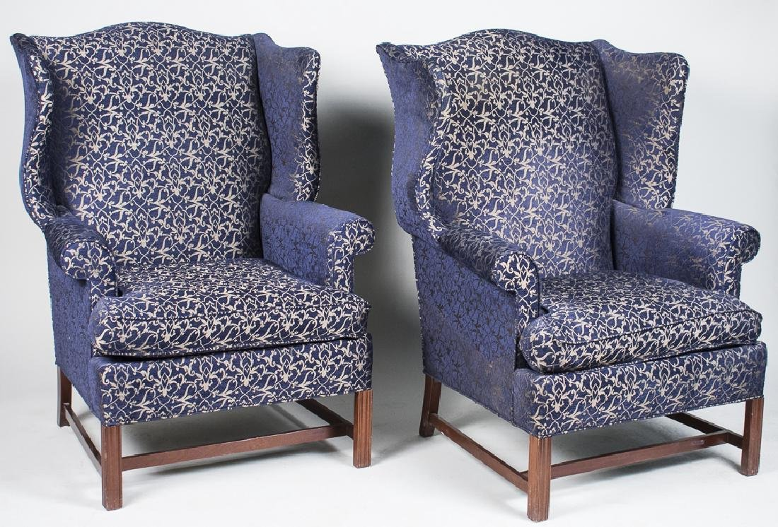 Pair of Hickory Chair Co. Wing Chairs