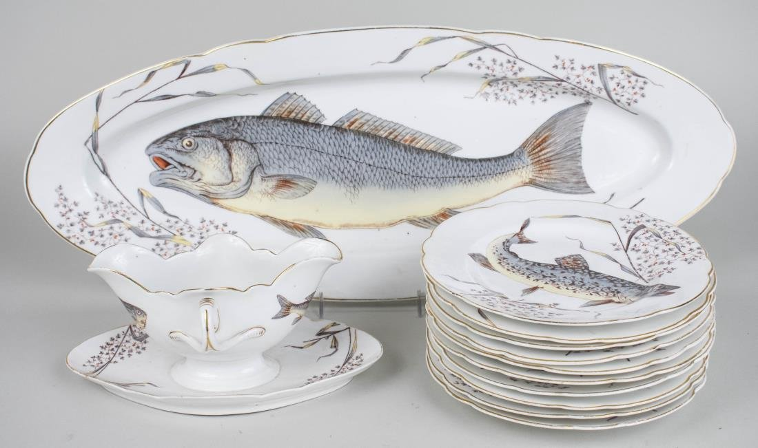 French Porcelain Fish Service