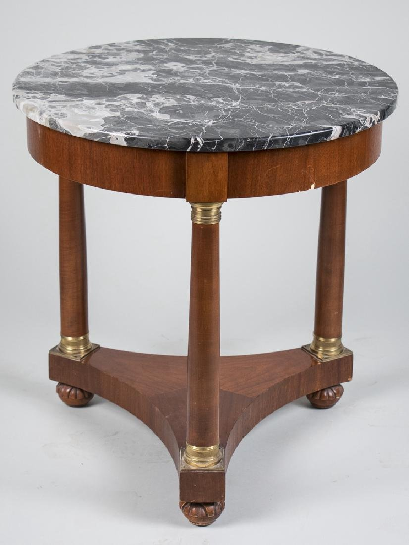 Baker Empire Style Marble Top Occasional Table