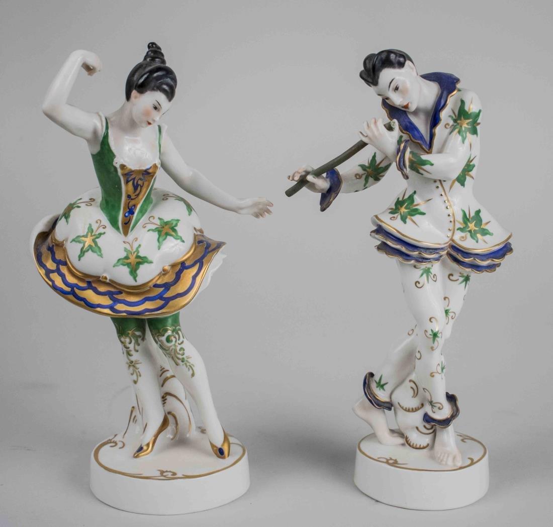 Pair of German Porcelain Figures