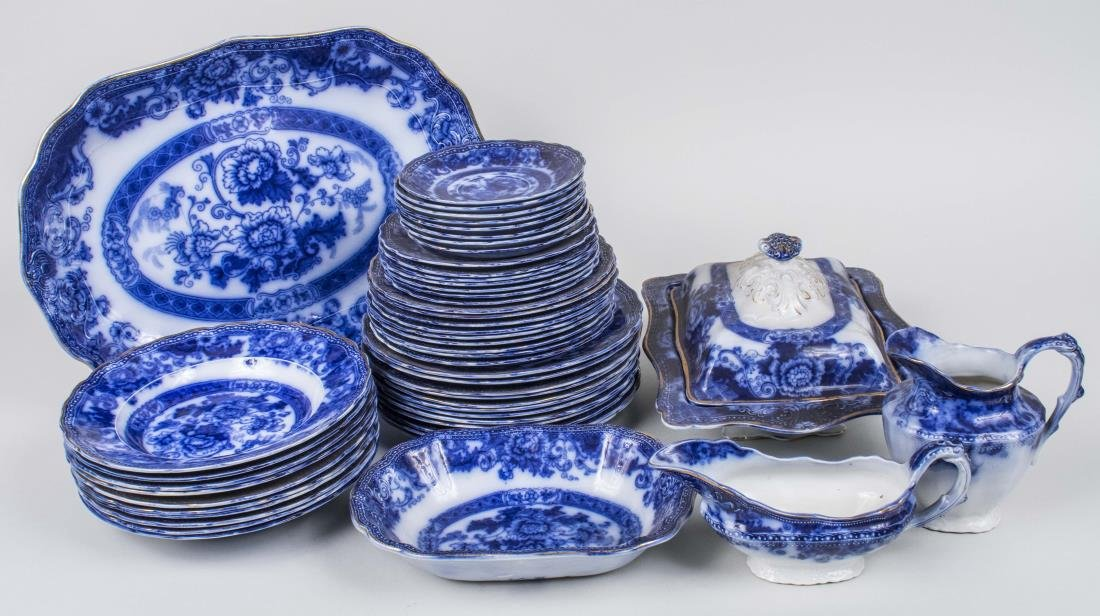 Wood & Son Flow Blue and White Dinner Set