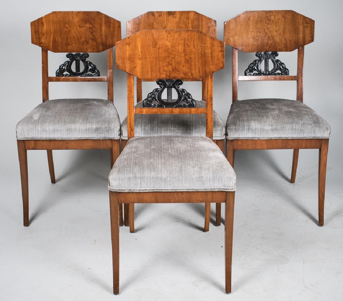 Set of Four Bidermeier Style Side Chairs