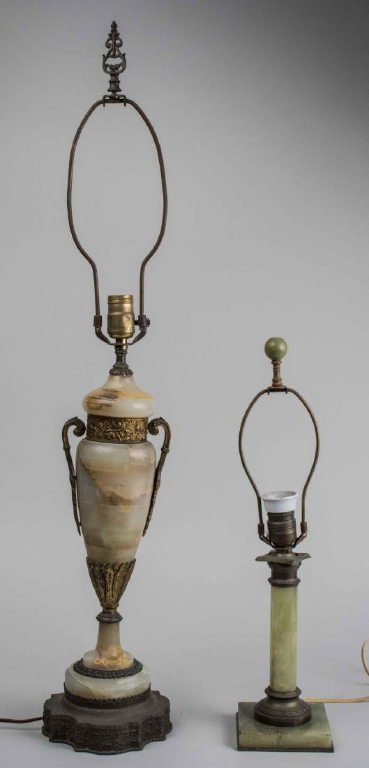 Two Onyx Lamps