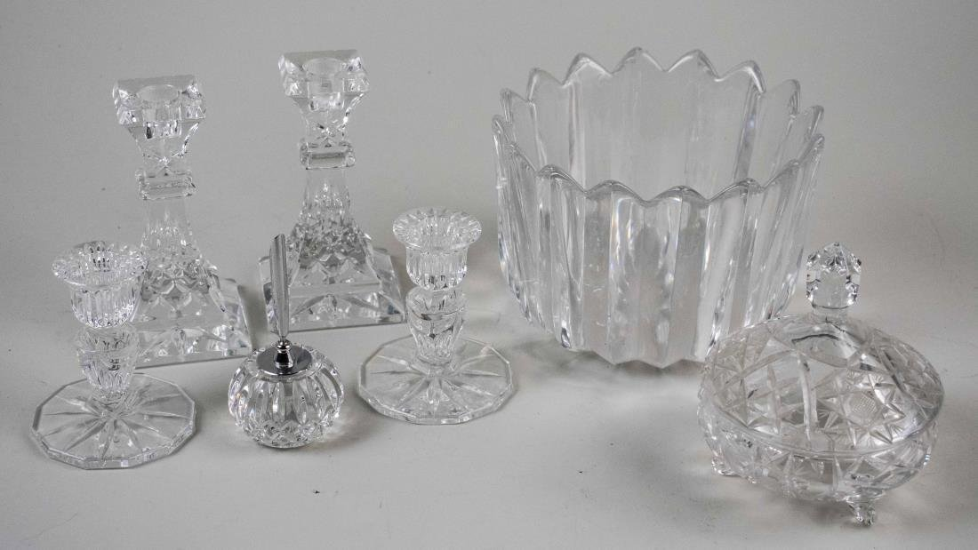 Group of Glass Table Decorations