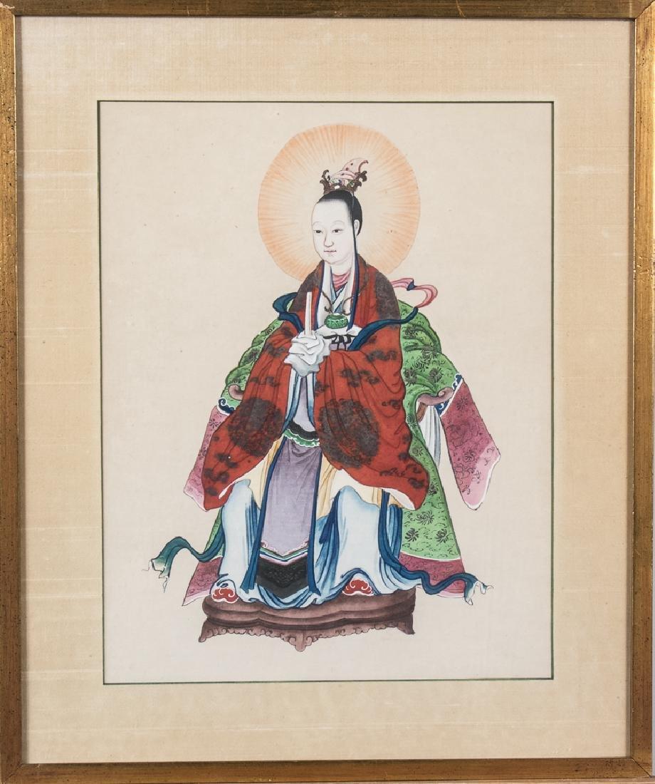 Set of Three Chinese Paintings of Ancestors - 2