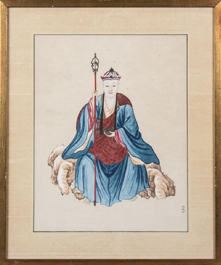 Set of Three Chinese Paintings of Ancestors - 4
