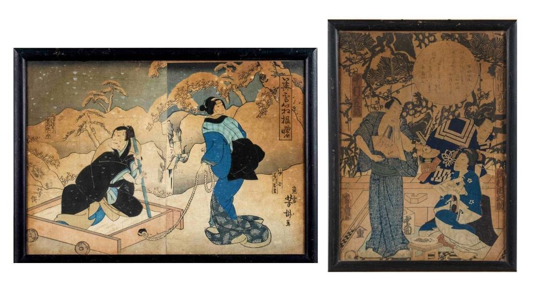 Pair of Japanese Scenes