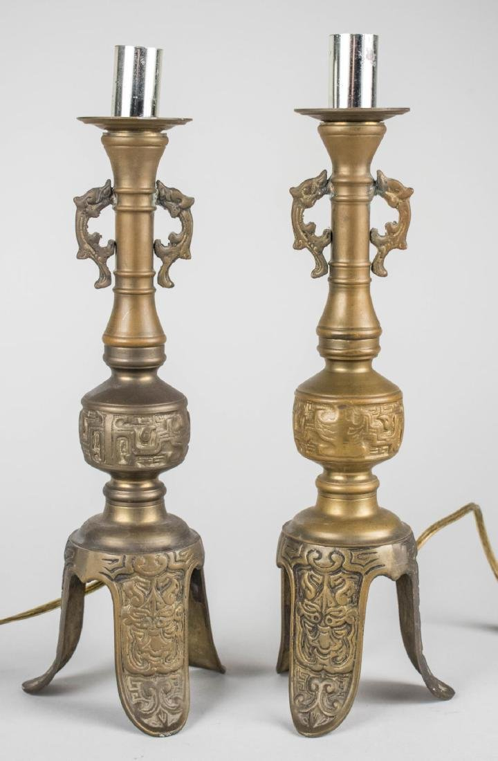 Two Asian Lamp Bases