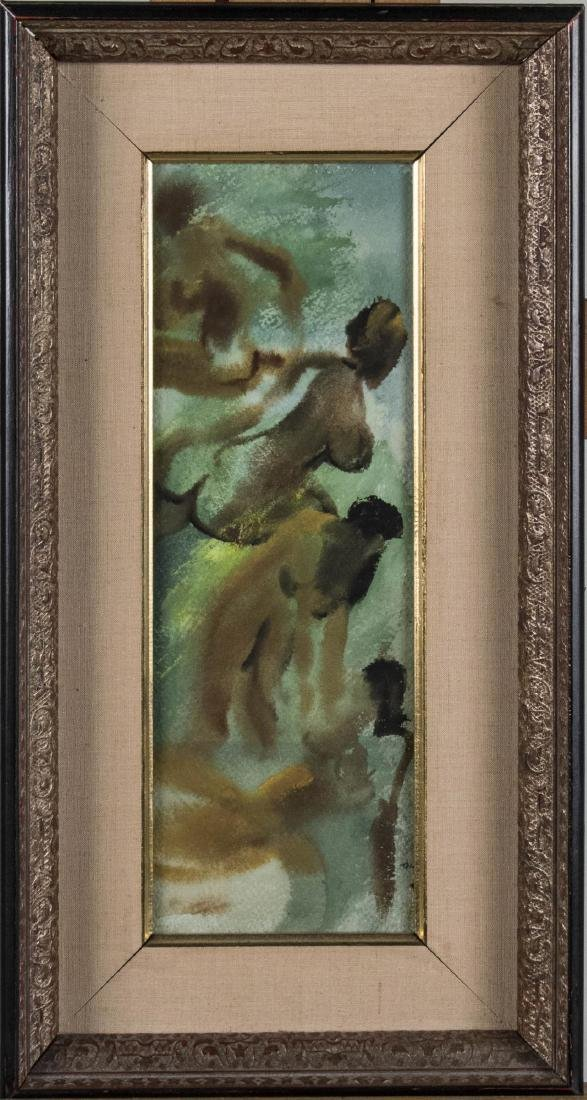 Watercolor of Four Nude Women (20th Century)