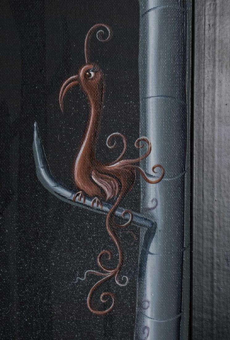 Surrealist Bird Painting (20th Century) - 2