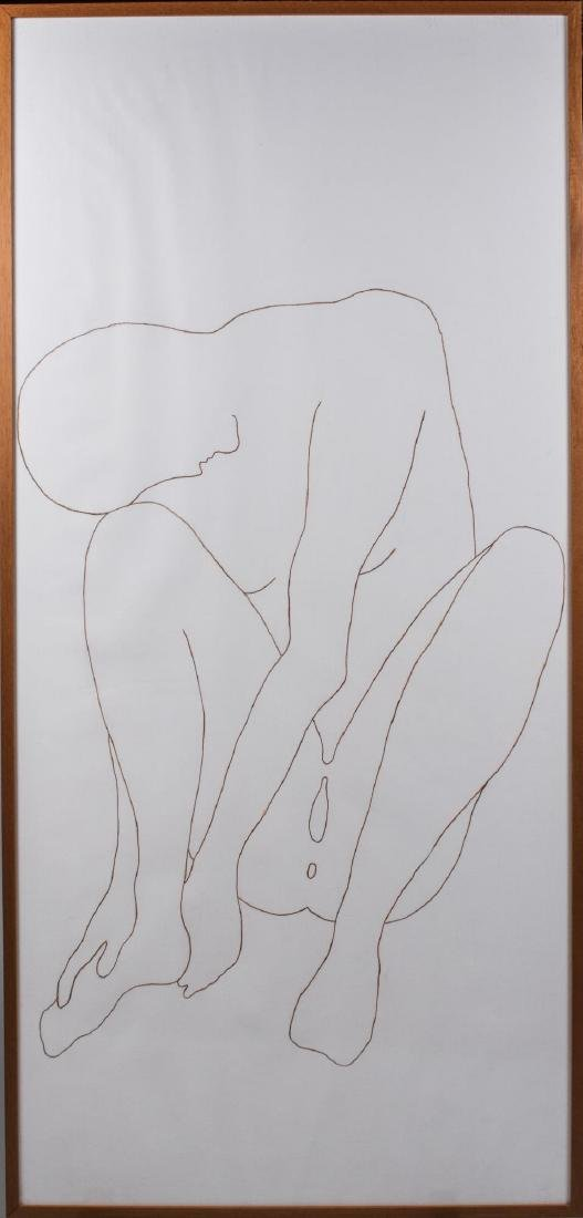 Nude Outline Drawing of a Woman (20th Century)