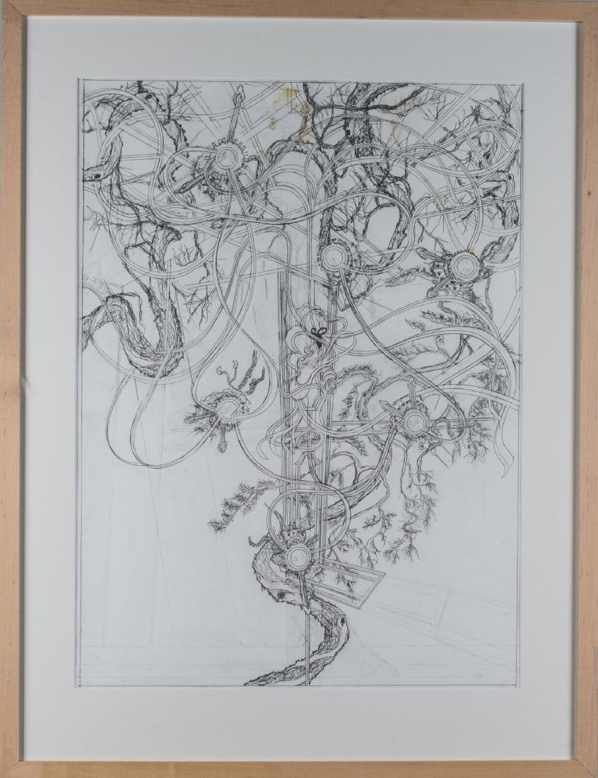 Group of Four Pencil Drawings (20th C) - 3