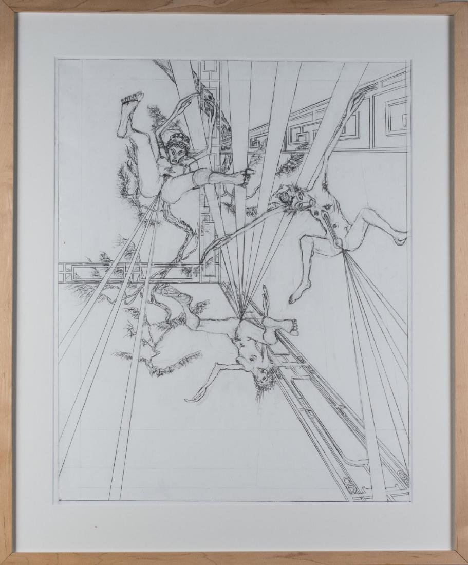 Group of Four Pencil Drawings (20th C) - 4