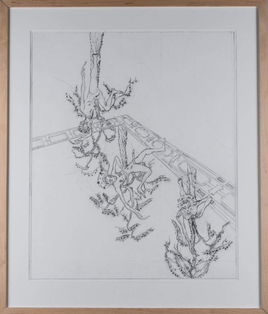 Group of Four Pencil Drawings (20th C) - 5