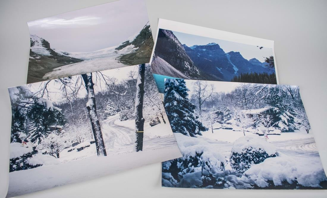 Four Photos of Snowy Landscapes (20th Century)