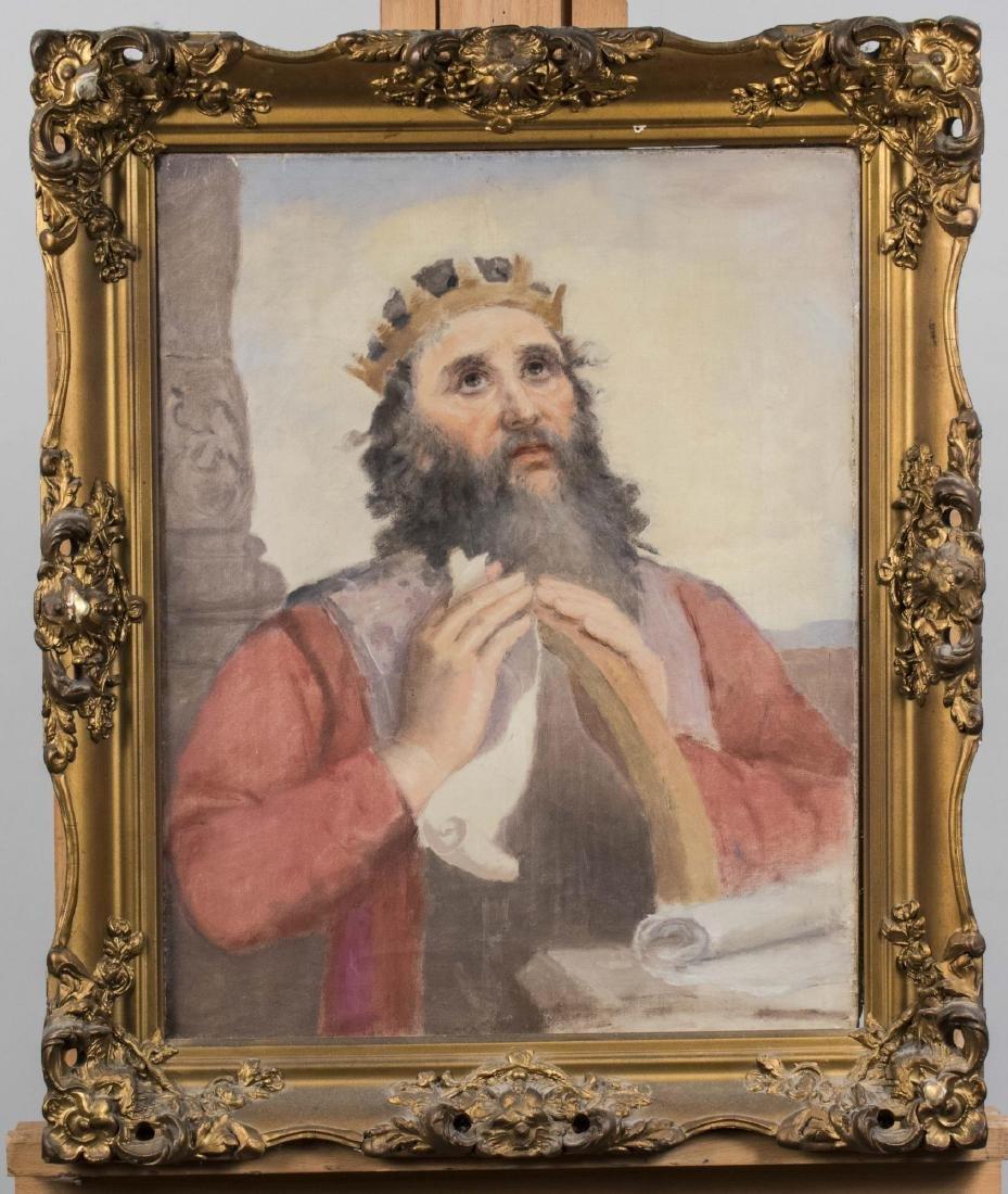Devotional Portrait of King Hezekiah Praying